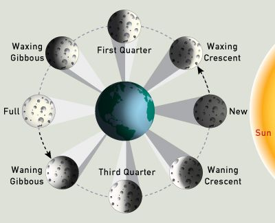 8 moon phases in order. Moon Phases