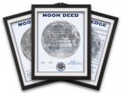 lunar land framed moon deeds